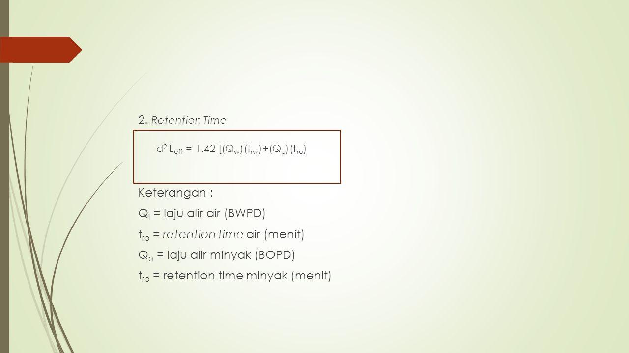 d2 Leff = 1.42 [(Qw)(trw)+(Qo)(tro)